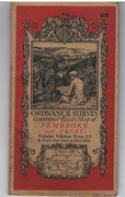 Ordnance Survey Contoured Road Map of Pembroke and Tenby. Sheet 99. Popular Edition. 1/9. Scale One Inch to One Mile.