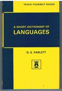 A Short Dictionary of Languages.