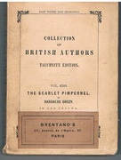 The Scarlet Pimpernel. In one volume. Collection of British Authors Tauchnitz Edition. Vol. 4248.