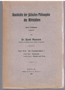 Geschichte der jüdischen Philosophie des Mittelalters nach Problemen dargestellt