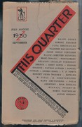 This Quartet Vol. III. No I.  July - August - September 1930.  [Russian Avant Garde].