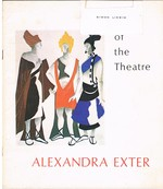 Artist of the Theatre: Alexandra Exter [Association copy Simon Lissim]. Four Essays, with an Illustrated Check List of Scenic and Costume Designs Exhibited at the Vincent Astor Gallery, the New York Public Library at Lincoln Center (Spring - Summer 1974).