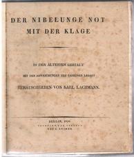 LACHMANN, Karl (Ed. hrsg.)
