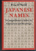 Japanese Names. A Comprehensive Index by Characters and Readings. Third printing.