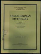Anglo - Norman Dictionary. Fascicle 4: M - O/U