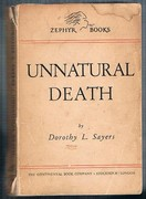 Unnatural Death: Zephyr Books. A Library of British and American Authors. Vol. 82.